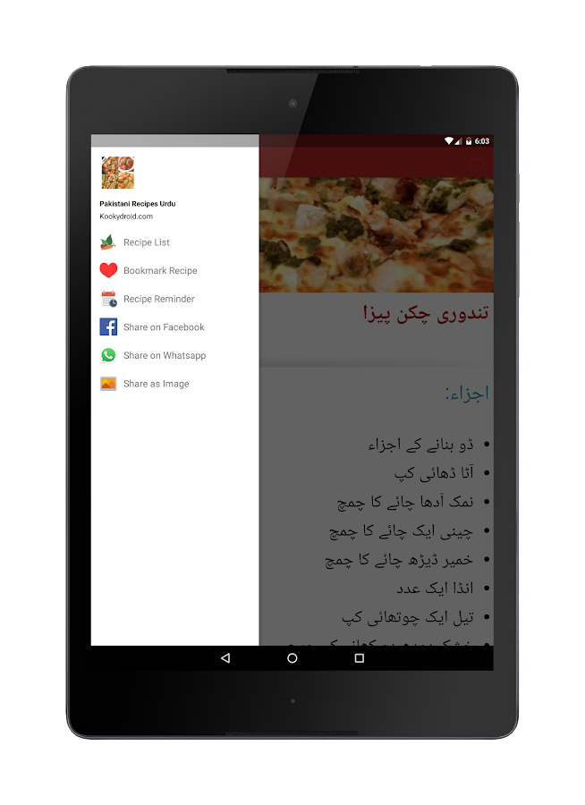 ‪Pakistani Recipes in Urdu اردو‬‏- screenshot