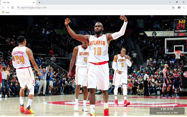 Atlanta Hawks NBA New Tab Theme
