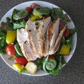 Spring Grilled Chicken Salad with Blackberry Fennel Vinaigrette