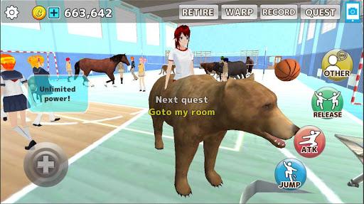 animal school simulator. girls and animal life screenshot 1