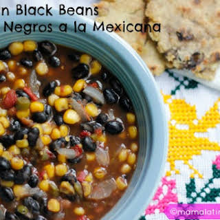 Fast Mexican Black Beans.