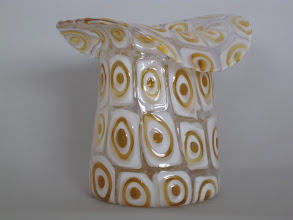 Photo: Fratelli Toso vase with bulls eye murrines.