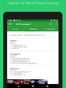 All Formulas Screenshot