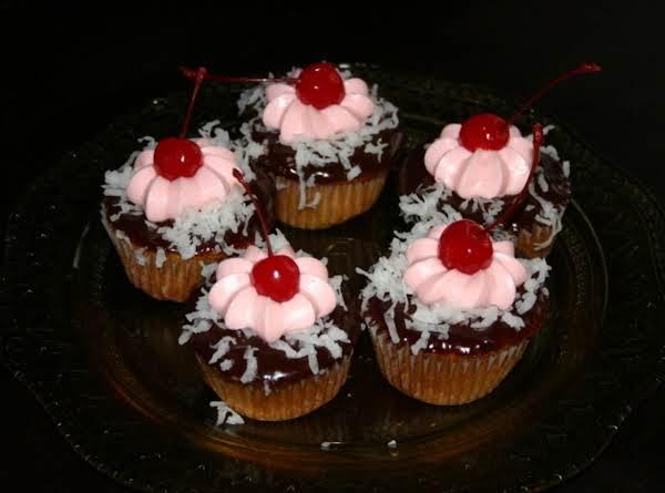 Chocolate Covered Cherry Cupcake