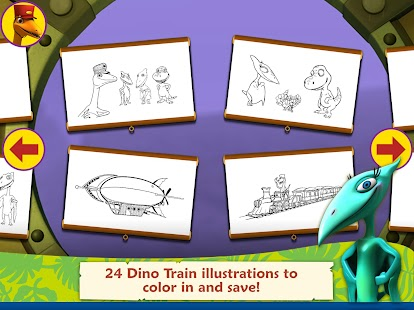 Dinosaur Train: Paint & Match- screenshot thumbnail