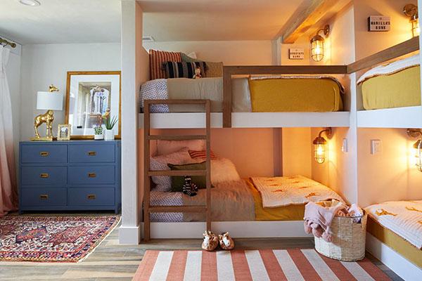 Mẫu phòng ngủ bé trai với gam màu xanh