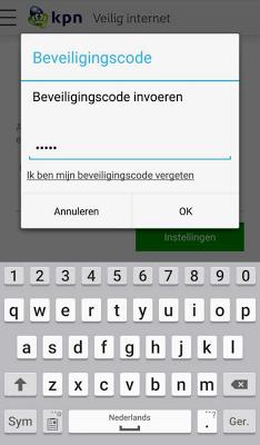 KPN Veilig Internet - screenshot