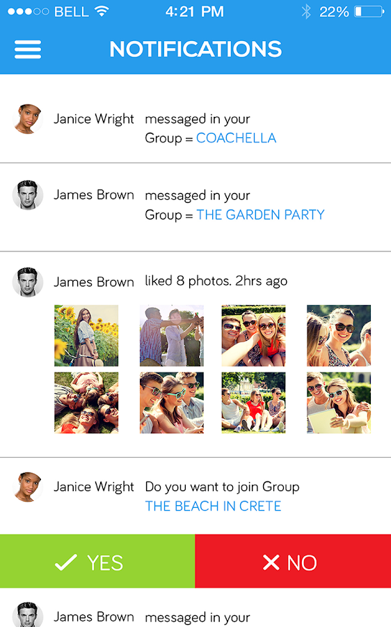 Groupr- screenshot