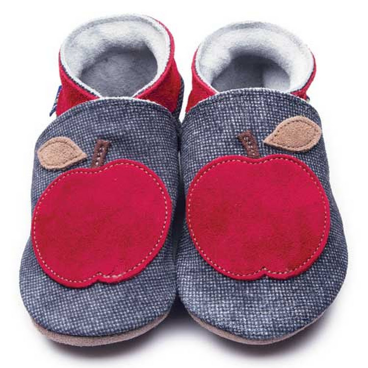 Inch Blue Soft Sole Leather Shoes - Apple Denim (0-6 months)