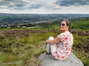 Photo: My wife enjoying a view of Ilkley Moor