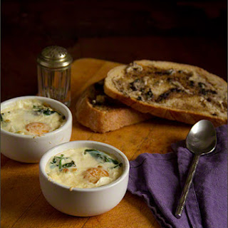 Baked Eggs With Black Garlic