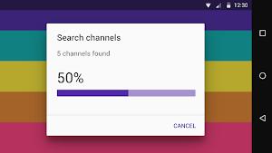 Mobile TV app screenshot