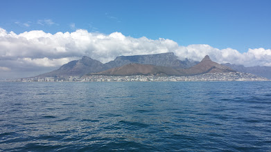 Photo: sailing into Cape Town