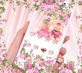 Pink theme teddy bear- screenshot thumbnail