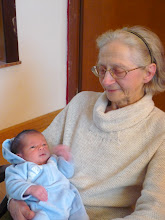 Photo: 1st time meeting with my maternal great-grandmother