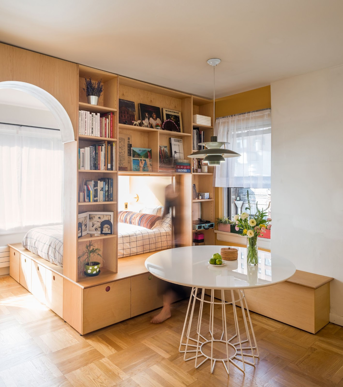 Create a Separate Area in a Men's Bedroom ideas with a Divider