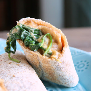 Freezable Cheesy Chickpea Burritos [Vegan].