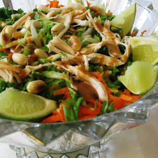 Chinese Chicken Salad With Chipotle Dressing.