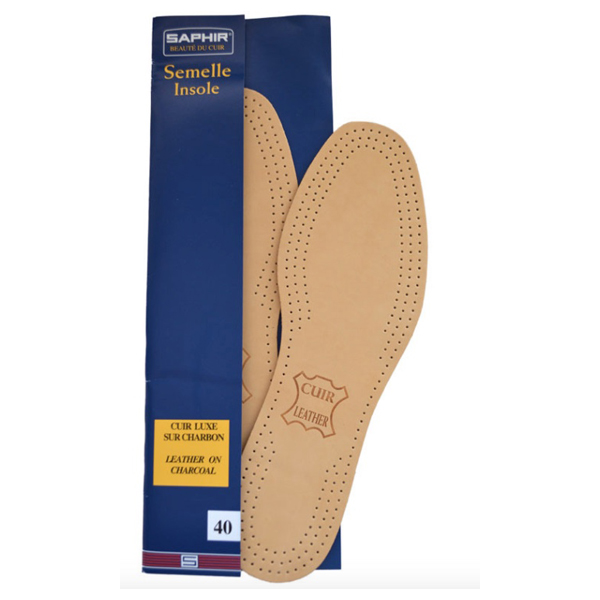 SAPHIR VEGETABLE TANNED LEATHER INSOLES - CLASSIC ROUND TOE FIT