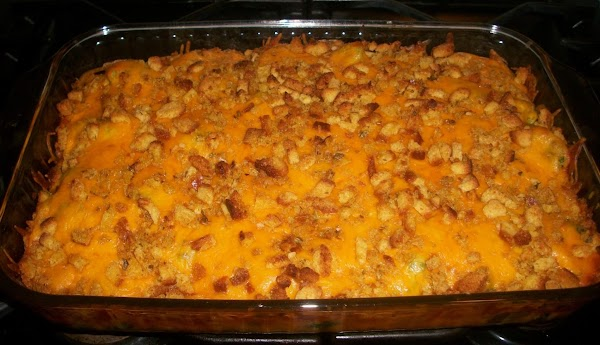 Place casserole on the center rack of a preheated 350 degree oven and bake...