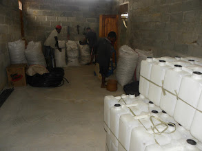 Photo: Storage facility at the Maliana SRI Rice Centre in Timor Leste.  [Photo courtesy of Movimento Co-operativa Econômica Agricoltura  (MCE-A) SRI program, Timor Leste, July 2015]