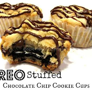Oreo Stuffed Chocolate Chip Cookie Cups.
