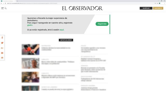 Mostrar contenido de El Observador