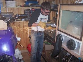 Photo: J'ajuste les supports d'étrier au disque à lamelles