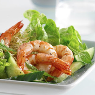 Shrimp, Cucumber and Mint Salad