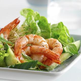 Shrimp, Cucumber and Mint Salad.