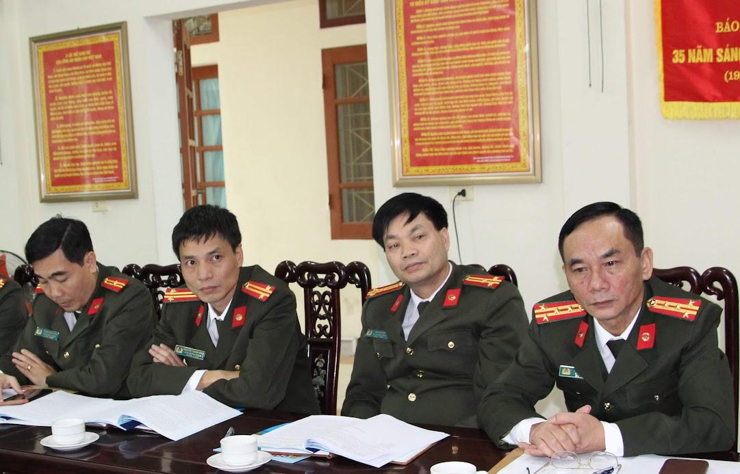 Đại biểu các phòng nghiệp vụ Công an tỉnh