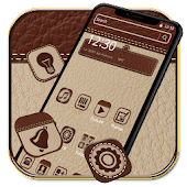 Luxury Brown Leather Theme Android APK Download Free By Fancy Theme Palace