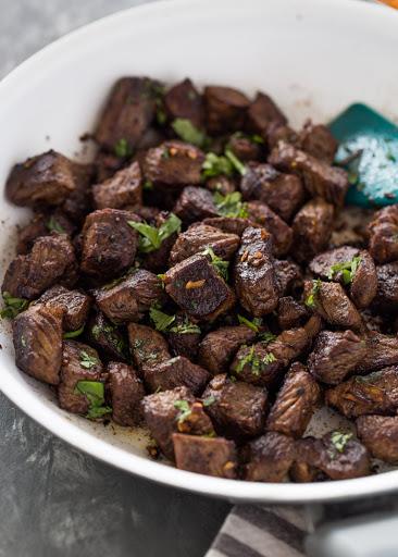 Garlic Steak Bites