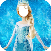 Photo Sticker Ice Queen Dress