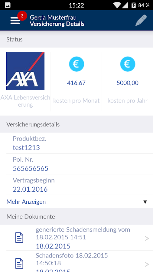 FinanceApp – Screenshot