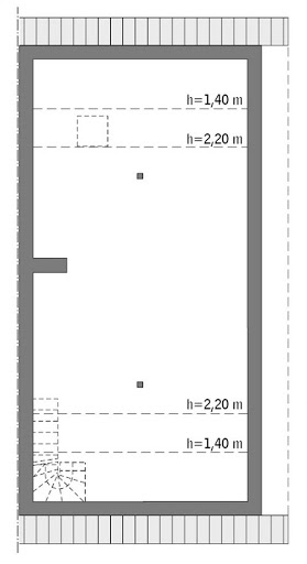 Elastyczny - wariant I (bliźniak) - BCC346a - Rzut poddasza