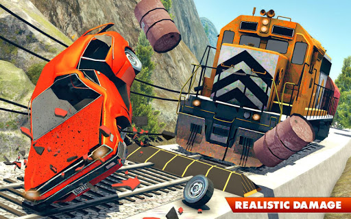 Train Vs Car Crash: Racing Games 2019 android2mod screenshots 1