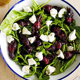 Roasted Beet and Garlic Salad with Goat Cheese.
