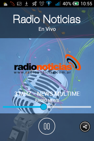 Radio Noticias: captura de pantalla