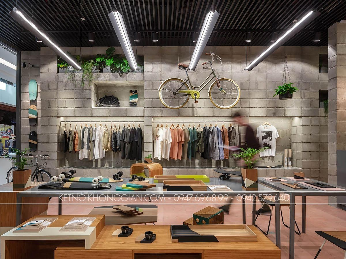 thiết kế shop thời trang Itsu 1