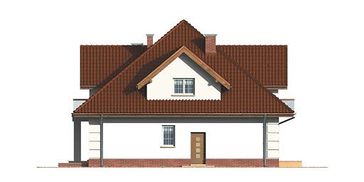 Dom przy Szmaragdowej - Elewacja prawa