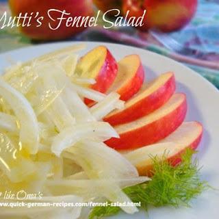 Mutti's Fennel Salad