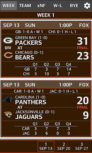 Football 2018 NFL Schedule & Scores 2017.06.03.1 screenshots 2