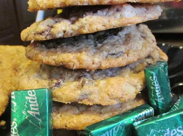 Andes Mint Chunk Irish Oatmeal  Cookies Recipe
