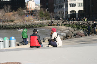 Photo: Outside Jane's Carousel in part of the Brooklyn Bridge Park.