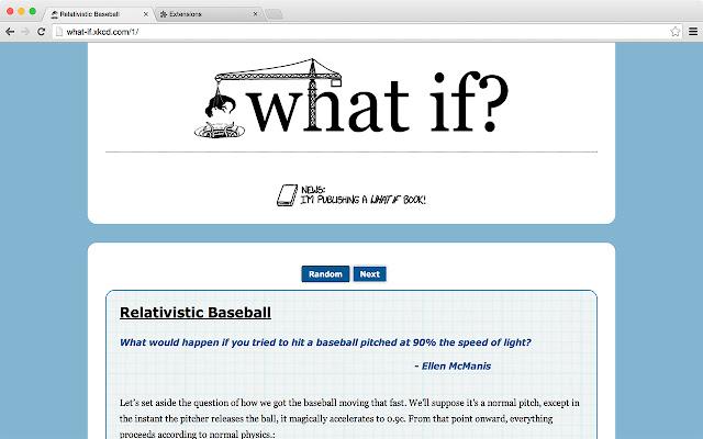 "Random ""xkcd: what if?"""