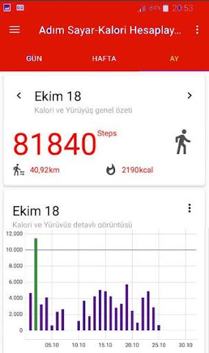 Walking and Counting Calories Step screenshot 3