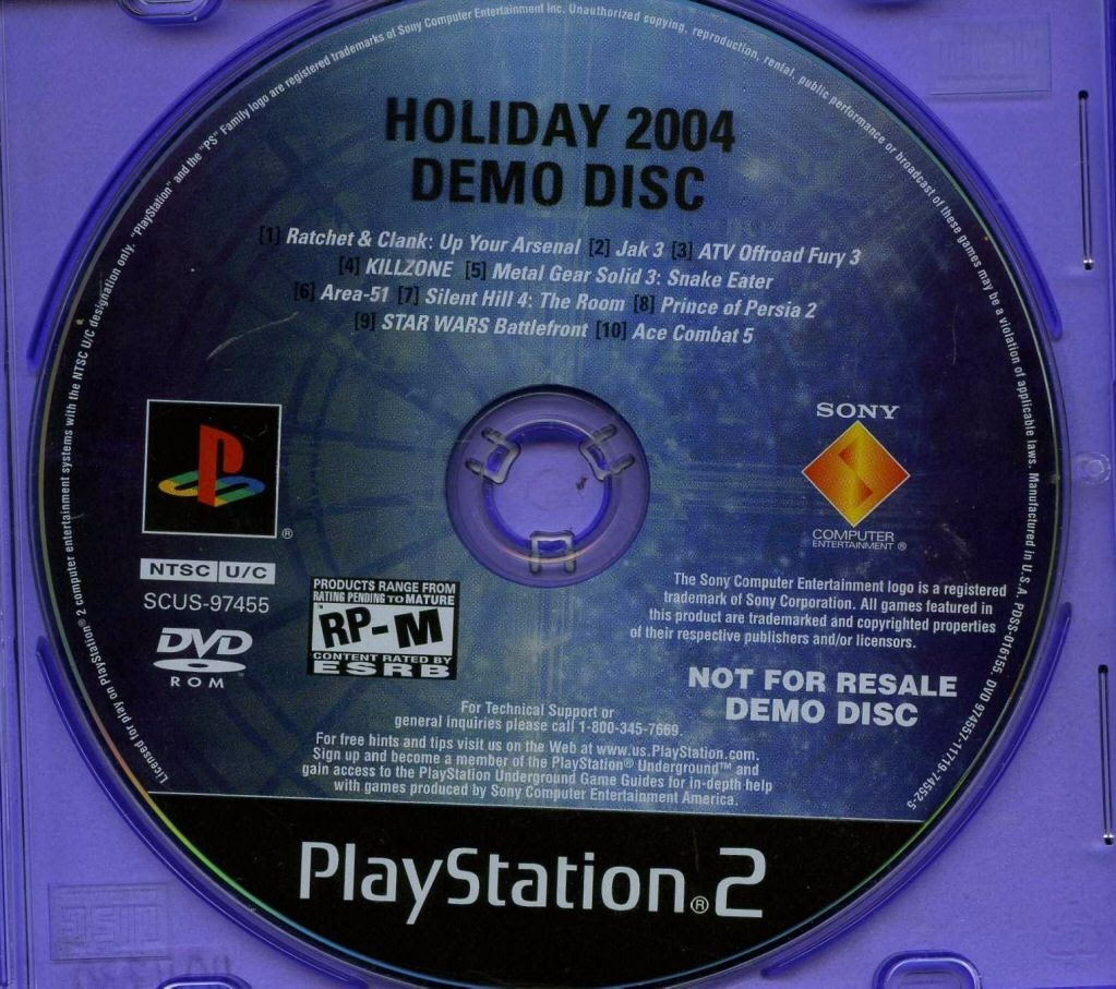Video game:Sony PlayStation 2 Holiday 2004 Demo Disc - Sony