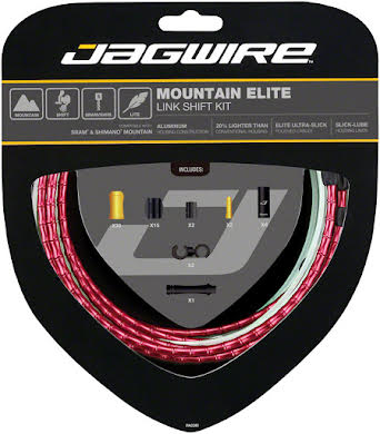 Jagwire Mountain Elite Link Shift Cable Kit with Ultra-Slick Uncoated Cables alternate image 8