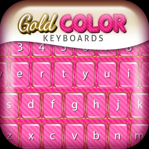 工具の美しいキーボード カラー 金 LOGO-記事Game